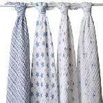 Aden + Anais Classic Swaddles - Prince Charming (4 Pk)