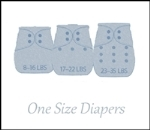 Grows with your baby to reduce the number and cost of cloth diapers.