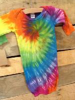 Austin Tie Dye Co. Infant Sleep Gown - Rainbow