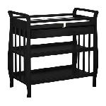 Athena Nadia Changing Table With Drawer - Black