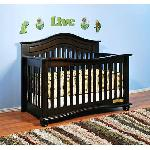 Athena Jordanna Collection Lia 3-In-1 Convertible Crib -espresso