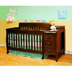 Athena Kimberly 3-In-1 Crib And Changer Combo - Espresso