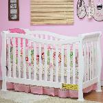 Athena Nadia 3-In-1 Convertible Crib - White