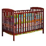 Athena Leila Crib And Dresser Nursery Set - Cherry