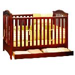 Athena Jeanie Classic Crib With Drawer - Cherry