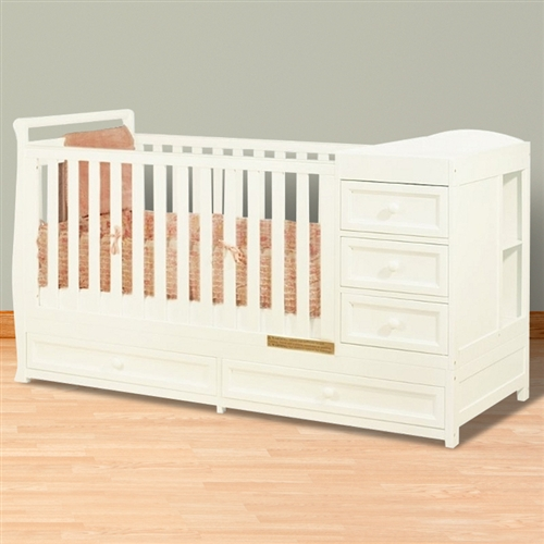 athena daphne 2 in 1 crib and changer combo white. Black Bedroom Furniture Sets. Home Design Ideas