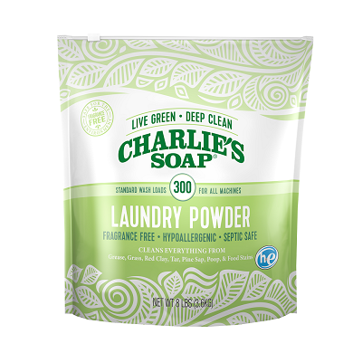 Charlie's Soap Laundry Powder - 300 Loads -  8 lb Pouch