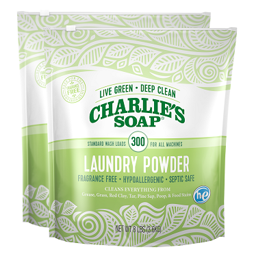 Charlie's Soap Laundry Powder - 600 loads  - 8 lb Pouch (2 Pack)