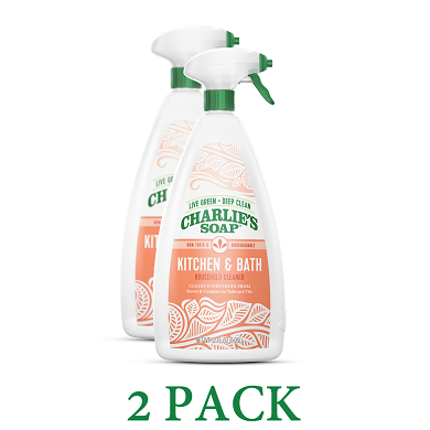 Charlie's Kitchen And Bath Natural Cleaner -2 pack