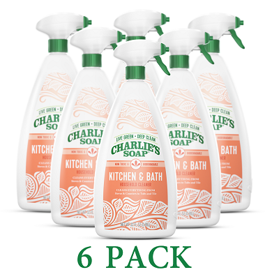 Charlie's Kitchen And Bath Natural Cleaner - 6 pack