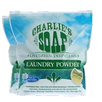 Charlie's Soap Laundry Powder - 16 lb -  300 Load Pouch (2 Pack)