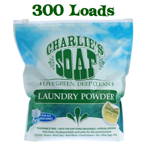 Charlie's Soap Laundry Powder - 8 lb -  300 Load Pouch