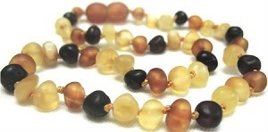 Momma Goose Adult Amber Necklace - Multi - Raw