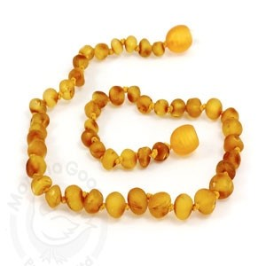 Momma Goose Infant Amber Necklace - Honey - Medium