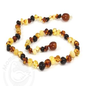 Momma Goose Infant Amber Necklace - Multi - Medium