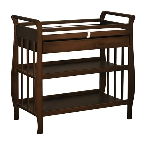 Athena Nadia Changing Table With Drawer - Espresso