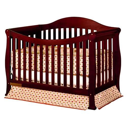 Athena Allie 3-In-1 Convertible Crib - Cherry