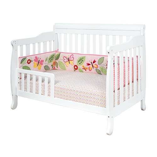 Athena Alice 3-In-1 Convertible Crib - White