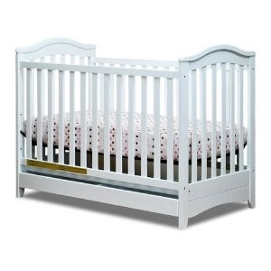 Athena Jeanie Classic Crib With Drawer - White