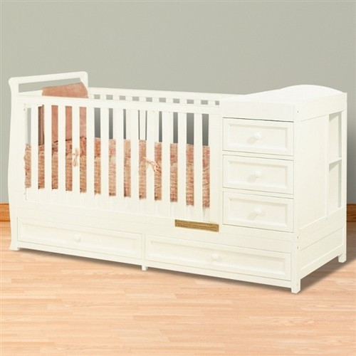 Athena Daphne 2-In 1 Crib And Changer Combo - White