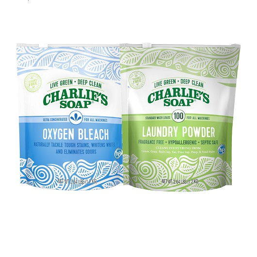 Charlie's Soap Laundry Powder and Oxygen Bleach Bundle